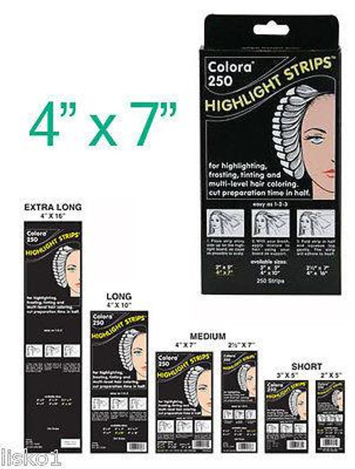 Colora Highlight Strips  4 x 7