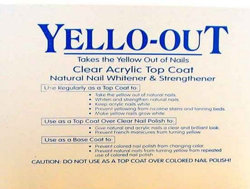 Blue Cross Yello-Out Clear Acrylic Top Coat 0.5 Oz