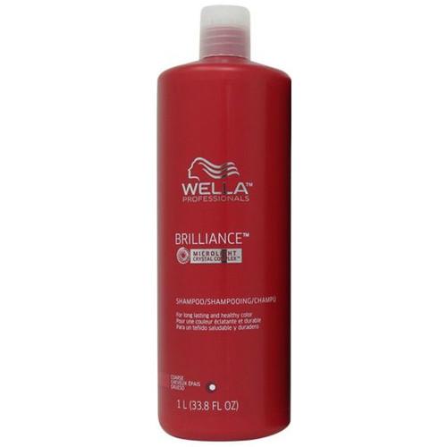 Wella Brilliance Shampoo Coarse Hair 33.8 oz