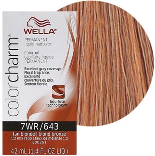 Wella 7WR / 643 Color Charm 1.4 oz - Tan Blonde
