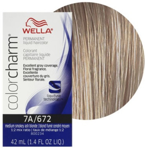 Wella 672 Color Charm 1.4 oz - Medium Smoky Ash Blonde