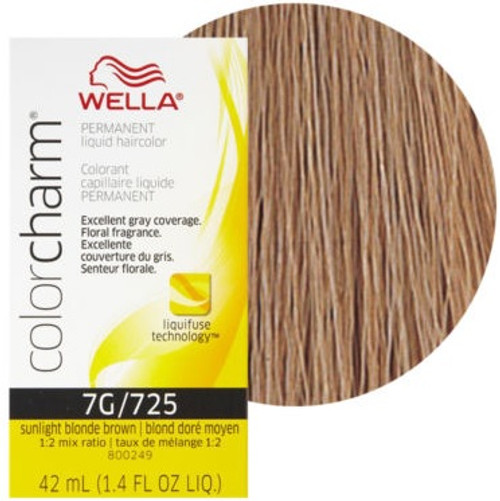 Wella 7G / 725 Color Charm 1.4 oz - Sunlight Blonde Brown