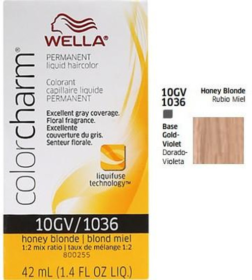 Wella 1036 Color Charm 1.4 oz - Honey Blonde