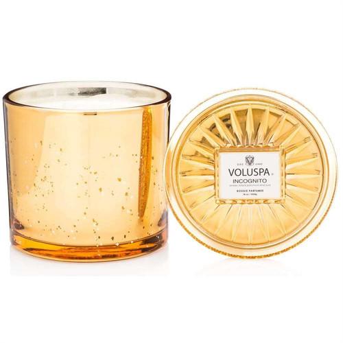 Voluspa 2 Wick Glass Candle - Incognito