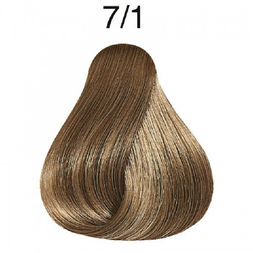 Wella 7/1 Semi-Permanent Hair Color - Medium Ash Blonde color