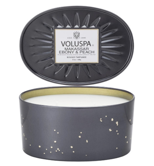 Voluspa Two Wick - Makassar Ebony & Peach