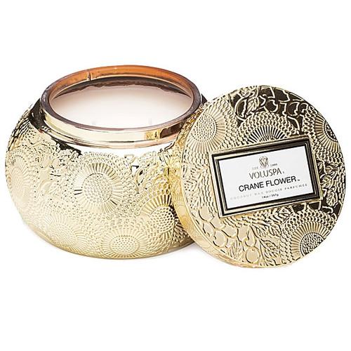 Voluspa Crane Flower Chawan Jar