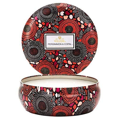 Voluspa Persimmon and Copal 3 Wick Tin Candle