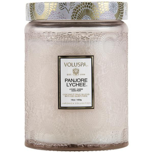 Panjoree Lyche Large Embossed Candle