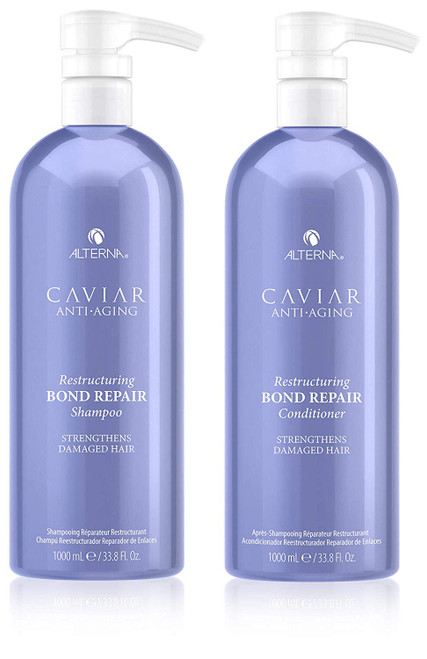CAVIAR Anti-Aging Restructuring Bond Repair Shampoo & Conditioner Set, 33.8 Ounce