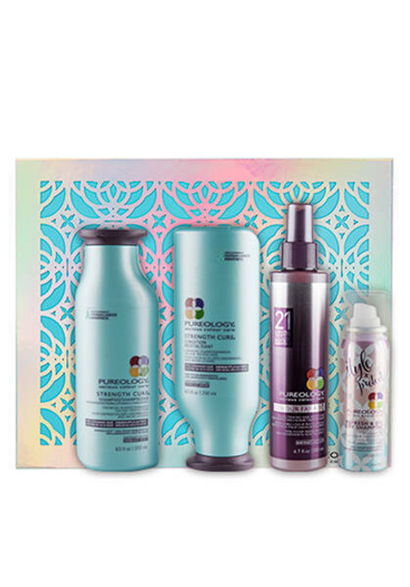 Pureology Strength Cure Shampoo Conditioner Hair Treatment Dry Shampoo Gift Set
