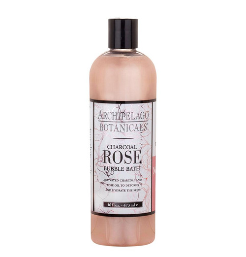 Archipelago Charcoal Rose Bubble Bath 16 oz