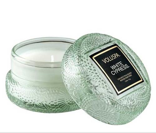 Voluspa White Cypress Macaron