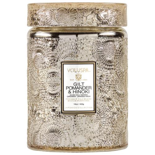 Voluspa Gilt Pomander & Honoki Large Jar
