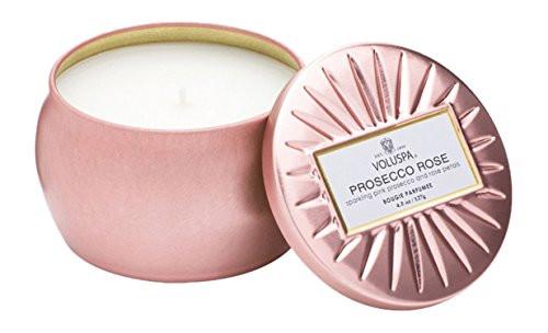 Voluspa Prosecco Rose Mini Tin Candle