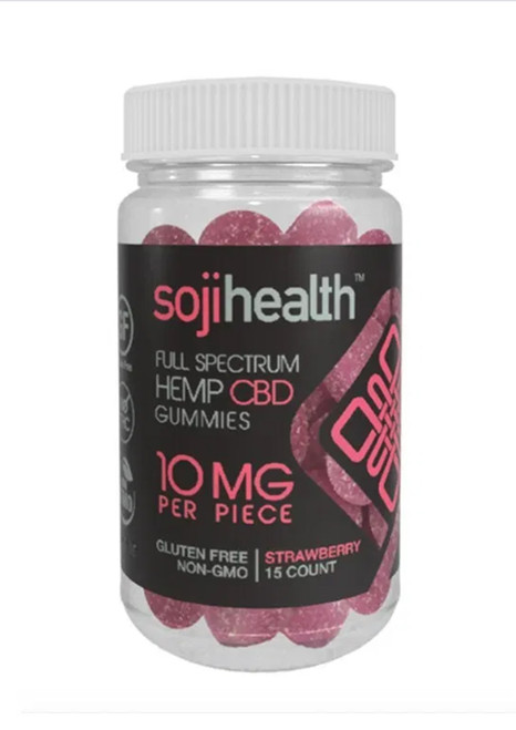 Soji Health Gummies Hemp CBD Strawberry 15 count
