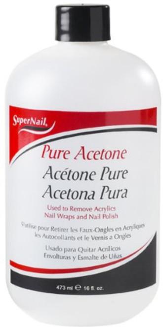 Super Nail Pure Acetone Polish Remover, 16 Oz