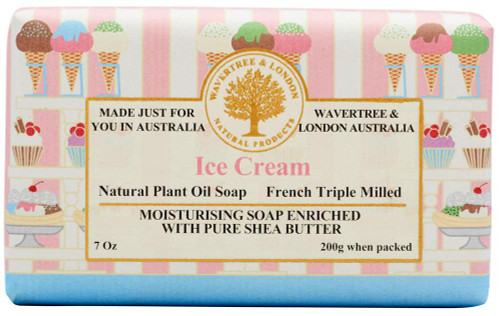 Wavertree & London Ice Cream Australian Natural Luxury Soap Bar 7 Ounces