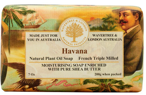 Wavertree and London Australian Natural Luxury Soap Bar 7 Ounces Havana
