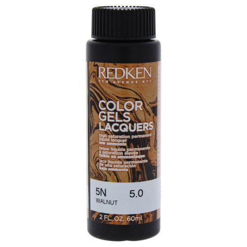 Redken Color Gels Lacquers Haircolor 5N Walnut 2 Oz