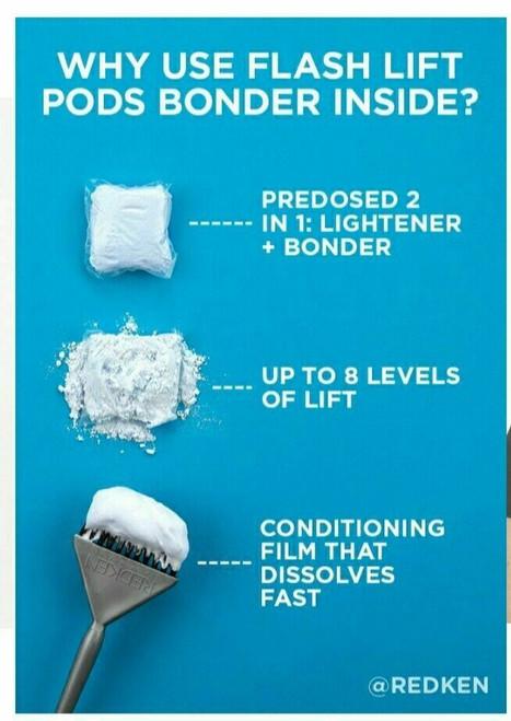 Redken Flash Lift Pods 8 Level Hair Lightener  Bonder Inside 3 PODS 15g x3