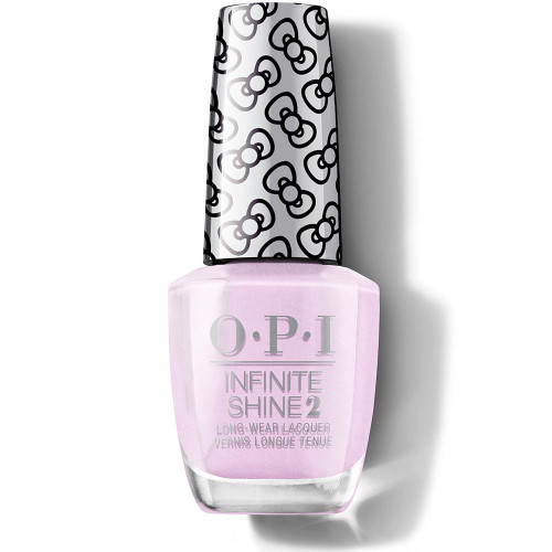 OPI Infinite Shine Hello Kitty Limited Edition Nail Polish - A Hush of Blush 15mL  Create the perfect manicure with the OPI Hello Kitty Limited Edition Infinite Shine Nail Polish. Celebrating the iconic character's 45th birthday, this collection is instantly recognizable thanks to the cute bow-printed lid. The ultra-glossy formula offers long-wearing shine for a professional quality finish. Discover up to 11 days of wear and gel-like shine with this cult favorite formula. This glam shade will become a staple in your nail polish wardrobe. Made in the USA.