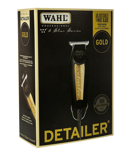 Wahl Professional 5-Star Series Limited Edition Black & Gold Corded Detailer for Stylists and Barbers