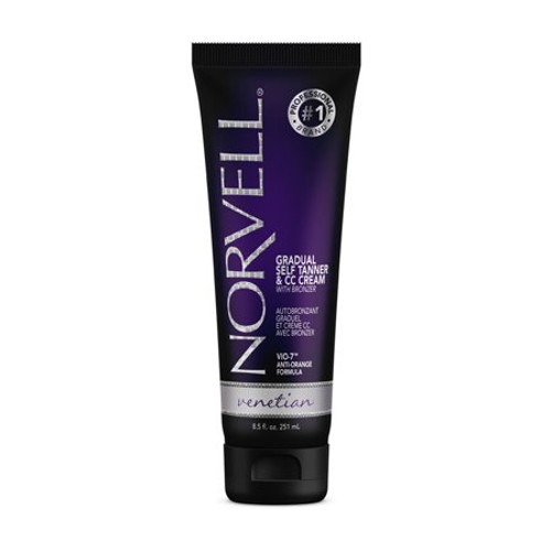 Norvell Venetian Gradual Self Tanner & CC Cream 2.5 Oz  Use daily as a gradual self-tan, or extend your sunless tanning results. An exotic sunless formula with a unique combination of violet and brown tone bronzers, designed to mimic the sought-after skin tones indicative of the Mediterranean region.