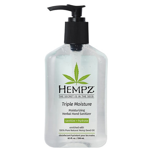 Hempz Triple Moisture Herbal Moisturizing Hand Sanitizer 8.5 Oz is a all-in-one sanitizer and moisturizer that helps nourish, moisturize, protect and condition your skin.