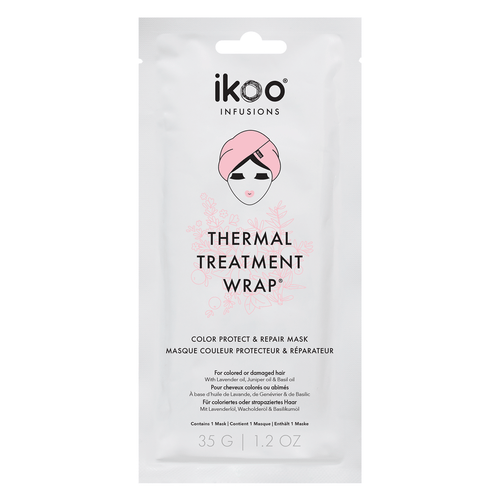 Ikoo Infusions Thermal Treatment Wrap Hair Color Protect and Repair Mask 1 Oz