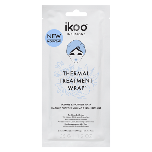 Ikoo Infusions Thermal Treatment Wrap Volume and Nourish Mask 1.2 Oz