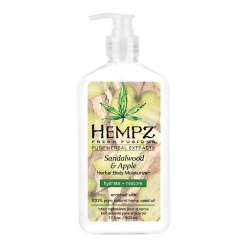 Hempz Fresh Fusions Sandalwood & Apple Herbal Body Moisturizer 17 Oz  Body Moisturizer