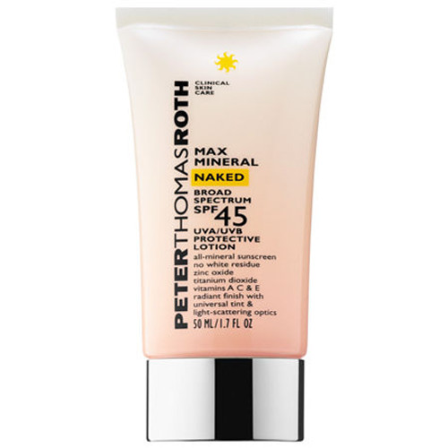 All-mineral sunscreen cream provides water-resistant broad spectrum SPF 45 UVA/UVB protection for sensitive skin with Zinc Oxide and Titanium Dioxide. Safflower Extract and Vitamins C and E help nourish and comfort, while the universal vanishing tint helps neutralize the look of any redness. Light-scattering optics from Diamond Powder give skin a natural-looking, radiant finish. Key Ingredients & Benefits: All-Mineral Broad Spectrum SPF 45 - Zinc Oxide and Titanium Dioxide help protect skin from aging UVA/UVB rays Safflower Extract and Vitamins C & E - Nourish and help comfort the look of sensitive skin Universal Vanishing Tint - Helps neutralize the look of redness and blends into most skin tones.