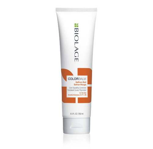 Biolage ColorBalm Color Depositing Conditioner - Saffron Red 8.5 Oz  Refresh, intensify and condition your hair color in 5 minutes with Biolage ColorBalm Color Depositing Conditioners. For all hair types and textures, color-treated or not. Vegan, paraben-free and mineral oil-free.
