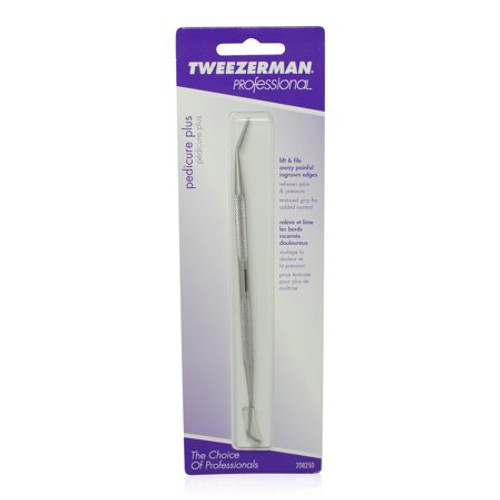 Tweezerman Pedicure Plus Be your own professional and do your pedicure at home with the Tweezerman Pedicure Plus. This tool can handle ingrown toenails as well as regular foot care maintenance with its dual-tip design and sturdy stainless steel. The curved end helps to clean under the nail, while the file can reduce pain from ingrown toenails. What a handy tool to have in your pedicure arsenal!