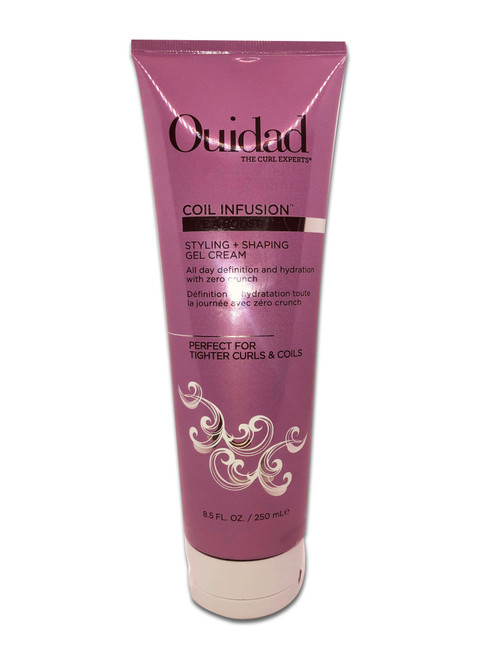 Ouidad's Coil Infusion Styling + Shaping Gel Cream is the best of both worlds. Its lightweight formula gives curls both the hold and definition of a gel with the nourishment of a cream.It quickly coats curls to lock in shape and hold, while adding essential moisture with shea butter and sunflower extract to fight frizz. Curls are left touchable and defined for the day and beyond. This gel cream can also be used as a touch-up to prolong styles and tame uncooperative or stray curls throughout the day.USE IT:Apply to wet hair from roots to ends and use fingers to distribute evenly. Style as desired, air-dry or diffuse for an enhanced curl pattern.