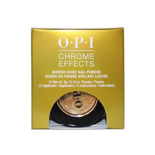 "OPI Chrome Effects Mirror-Shine Nail Powder ""Gold Digger #CP008""."