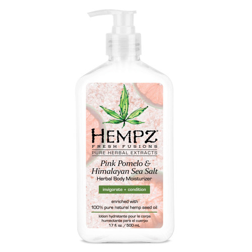Pure Herbal Extracts. Moisture-Rich + Velvety Smooth. Enriched with 100% Pure Natural Hemp Seed Oil. Paraben Free. Gluten Free. 100% Vegan. Dye-Free. THC Free. A lightweight, creamy formula that helps provide dramatic skin hydration and nourishment improving the overall health and condition of skin. Benefits & Key Features. Enriched with 100% pure natural hemp seed oil. Pink Pomelo is rich in Vitamin C and antioxidants to help invigorate and rejuvenate skins appearance. Sea Moisture Complex helps to retain moisture and maintain hydration of the skin. Shea Butter provides moisture and essential nutrients to skin, helping to protect against free radical damage and daily elements. Paraben-Free, Gluten-Free, 100% Vegan, Dye-Free, THC-Free.