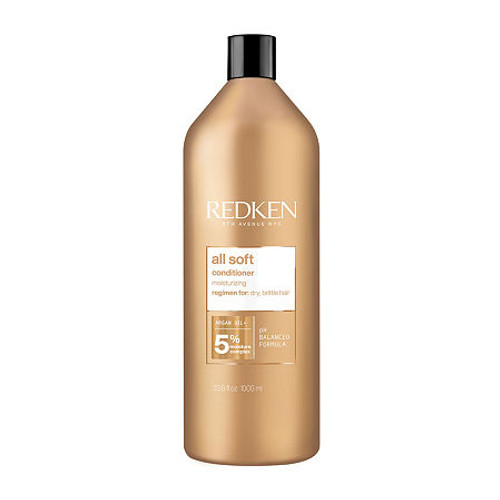Redken All Soft Conditioner Liter  Moisturizing and hair softening conditioner enriched with argan oil for your dry, brittle hair. Instantly detangles, and replenishes moisture. Made with Redken's Moisture Complex & Argan Oil, this hair conditioner provides 15x more conditioning when used with All Soft Shampoo and All Soft Argan Oil Serum.