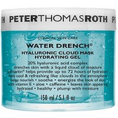 Peter Thomas Roth Water Drench Hydrating Gel Mask 5.1 Oz  Hydrates, nourishes and energizes the look of a dry, dull complexion. Formulated for normal, dry, combination and oily skin types.