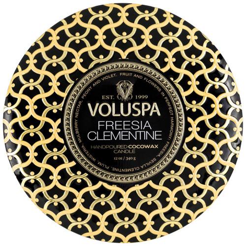Voluspa Freesia Clementine 3 Wick Tin Candle 12 Oz