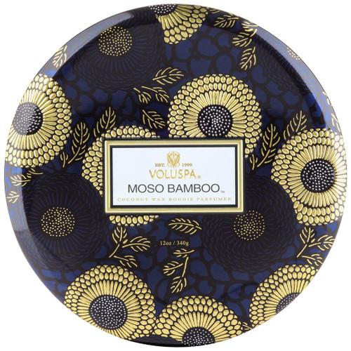 Voluspa Moso Bamboo 3 Wick Tin Candle 12 Oz