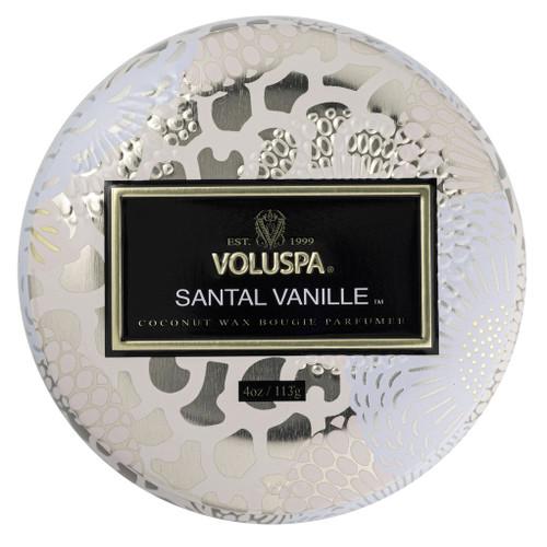 Voluspa Santal Vanille Mini Tin Candle 4 Oz