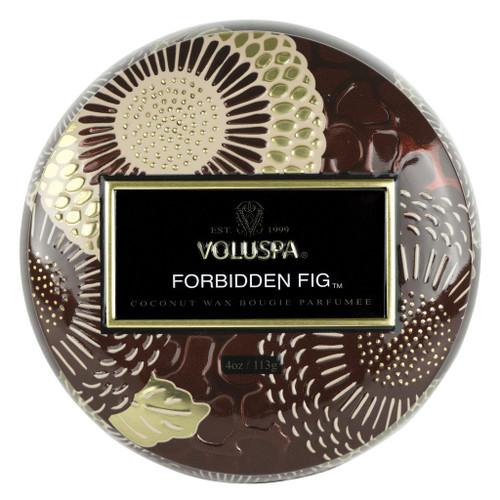 Voluspa Forbidden Fig Mini Tin Candle 4 Oz