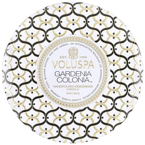 Voluspa Gardenia Colonia 3 Wick Tin Candle 12 Oz