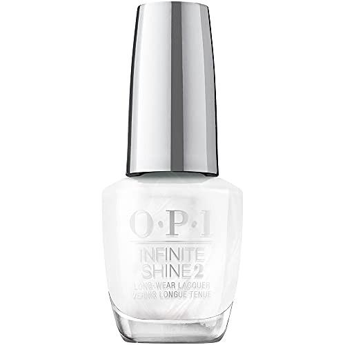 OPI Infinite Shine 2 Long Wear Lacquer Nail Polish - Snow Day In LA 0.5 Oz White