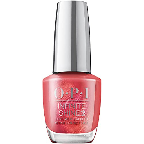 OPI Infinite Shine 2 Long Wear Lacquer Nail Polish - Paint The Tinseltown Red 0.5 Oz Red