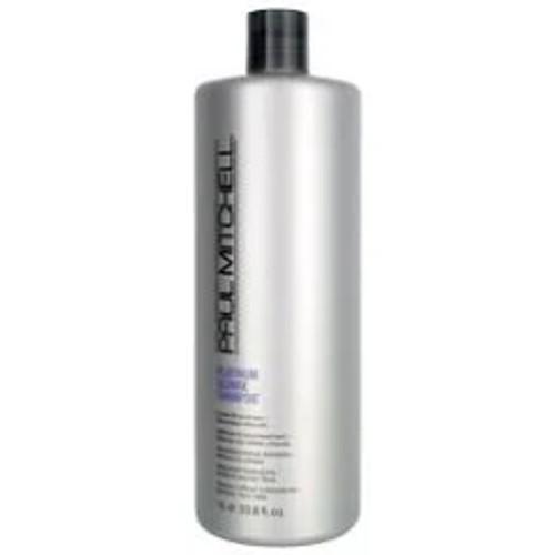 Paul Mitchell Platinum Blonde Shampoo Cools Brassiness Eliminates Warmth Liter