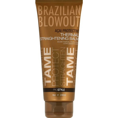 Brazilian Blowout Acai Protective Thermal Straightening Balm 8 oz