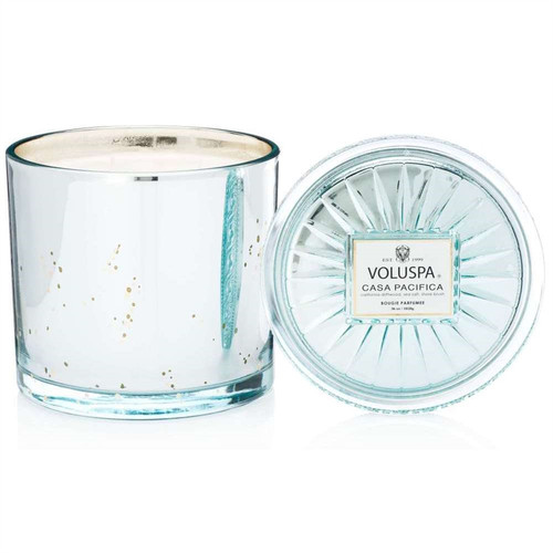 Voluspa 2 Wick Glass Candle - Casa Pacifica